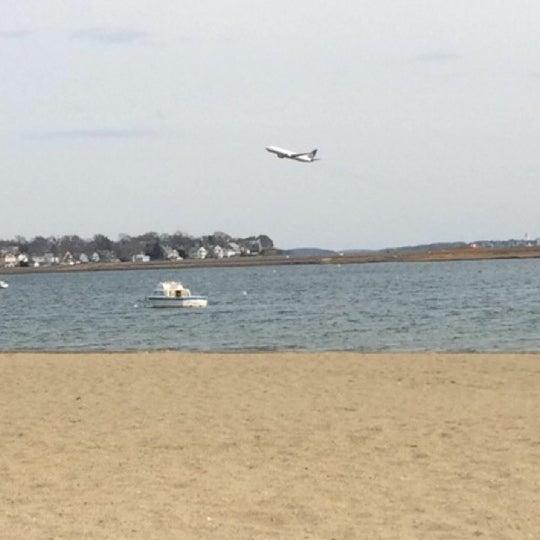 Photo taken at Constitution Beach by Matt E. on 3/25/2014