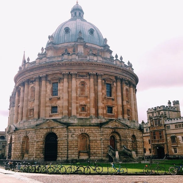 Photo taken at Radcliffe Camera by Nadia N. on 2/21/2015