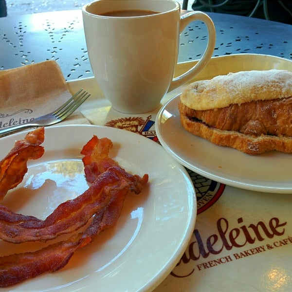 Photo taken at La Madeleine Country French Café by James C. on 10/11/2014