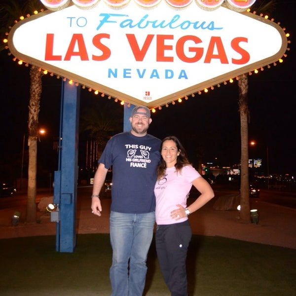 Photo taken at Welcome To Fabulous Las Vegas Sign by Sean S. on 2/24/2014