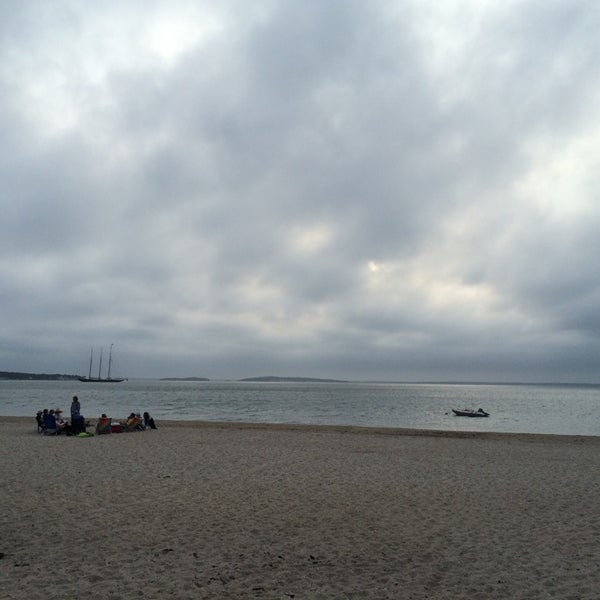 Photo taken at Foster Memorial Beach (Long Beach) by Mickey S. on 7/3/2014
