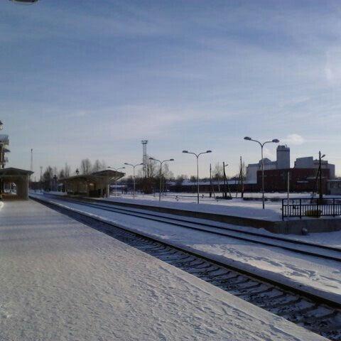 Photo taken at Tartu Raudteejaam by Ando V. on 1/27/2013