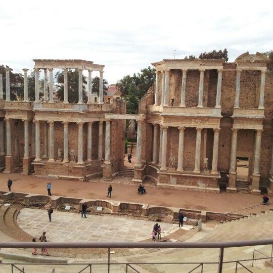 Photo taken at Anfiteatro Romano by Auxiliadora E. on 11/1/2012