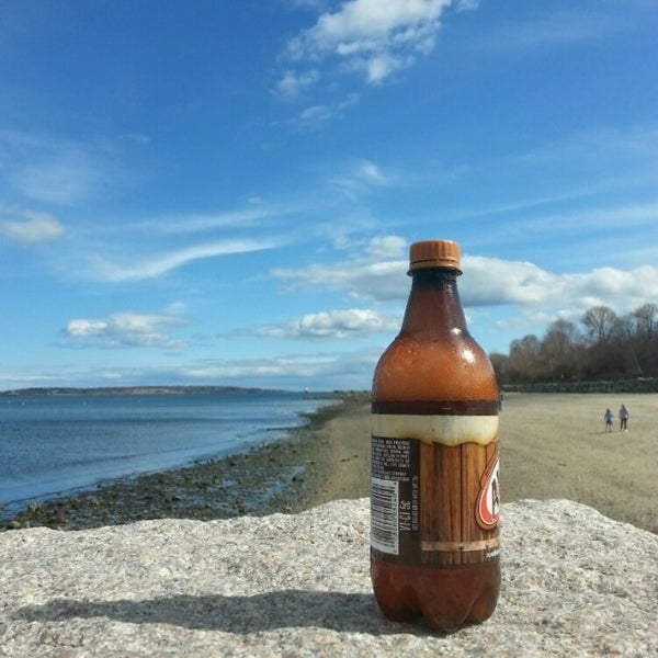 Photo taken at East End Beach by Squirrelfarts M. on 4/17/2015