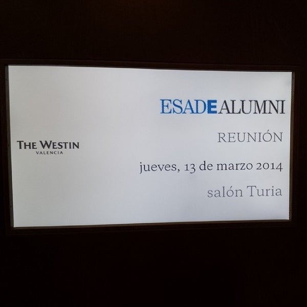 Photo taken at The Westin Valencia by Xavi R. on 3/13/2014