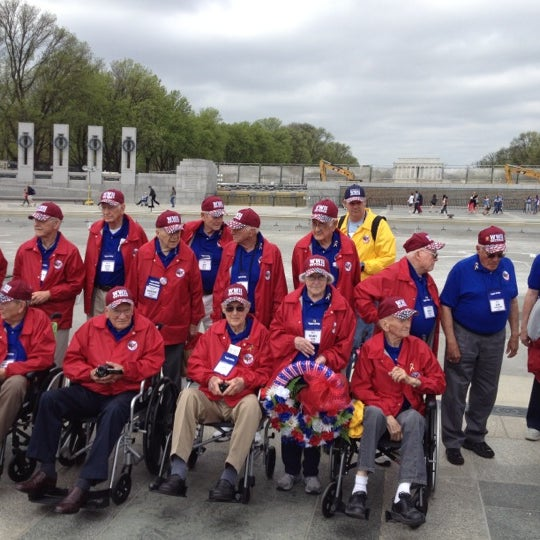 Photo taken at World War II Memorial by Sally W. on 4/16/2013