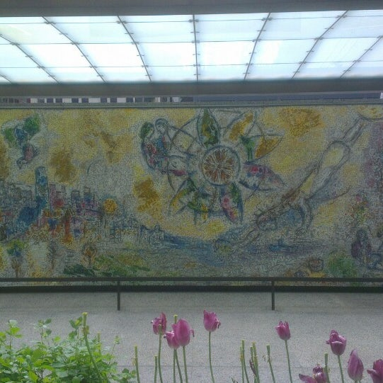 "Photo taken at Chagall Mosaic, ""The Four Seasons"" by Natalia S. on 5/27/2014"