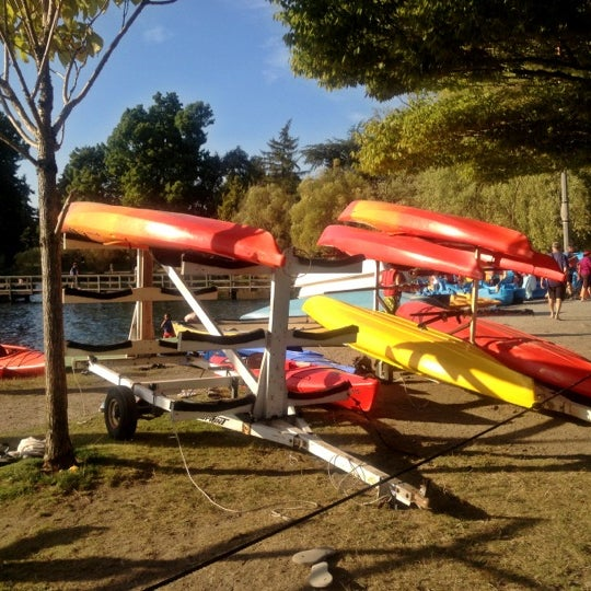Photo taken at Green Lake Boathouse by Kate K. on 9/9/2012