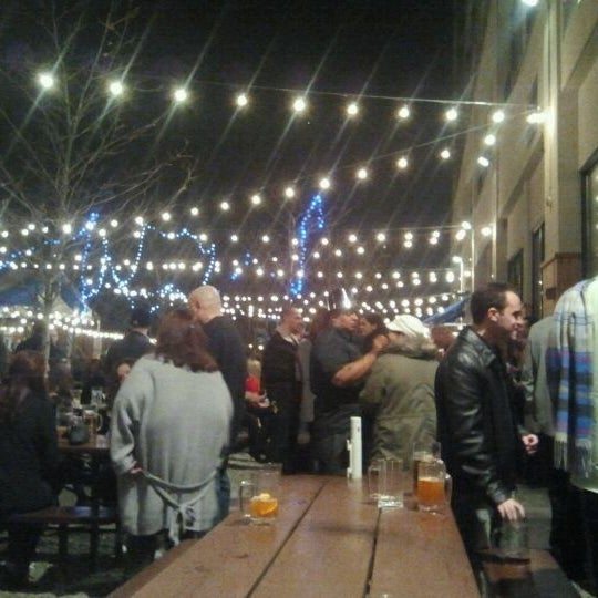 Photo taken at Zeppelin Hall Biergarten by Justen W. on 1/1/2012