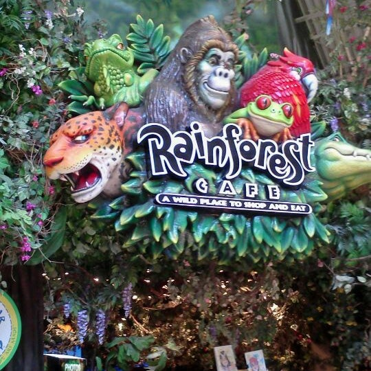 Rainforest Cafe Menu In Grapevine Tx