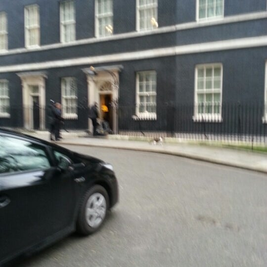 Photo taken at 10 Downing St. by Ronan S. on 1/17/2013