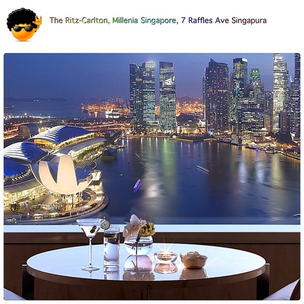 Photo taken at The Ritz-Carlton, Millenia Singapore by !MIlton S. 7.0 on 3/2/2014