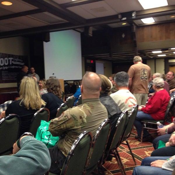Photo taken at Salt Fork Lodge & Conference Center by Jeremy E. on 4/26/2014
