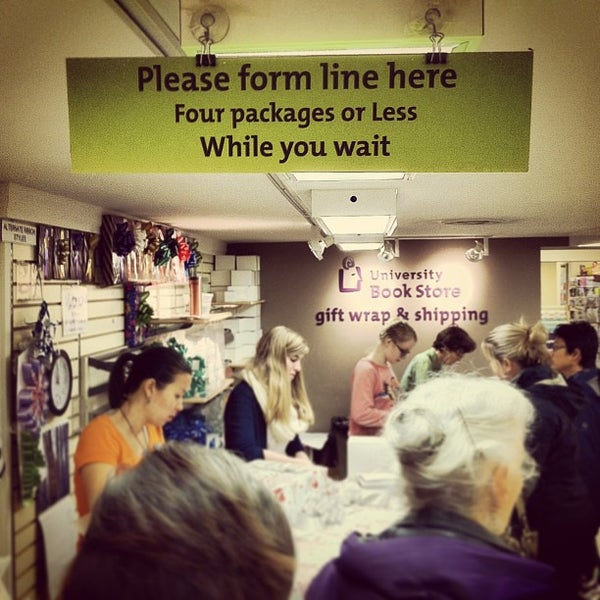 Photo taken at University Bookstore by Richard G. on 12/20/2012