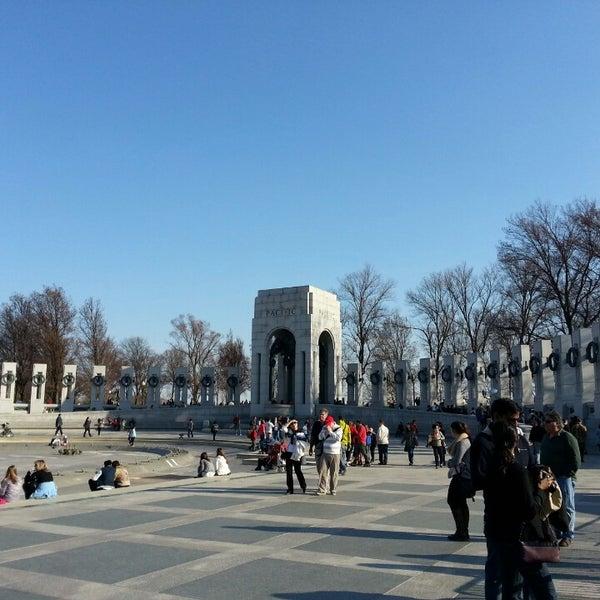 Photo taken at World War II Memorial by K C. on 3/30/2013