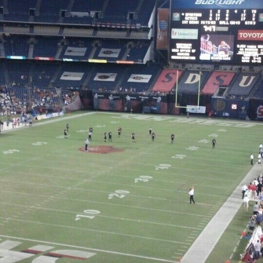 Photo taken at Qualcomm Stadium by Charlie B. on 9/23/2012
