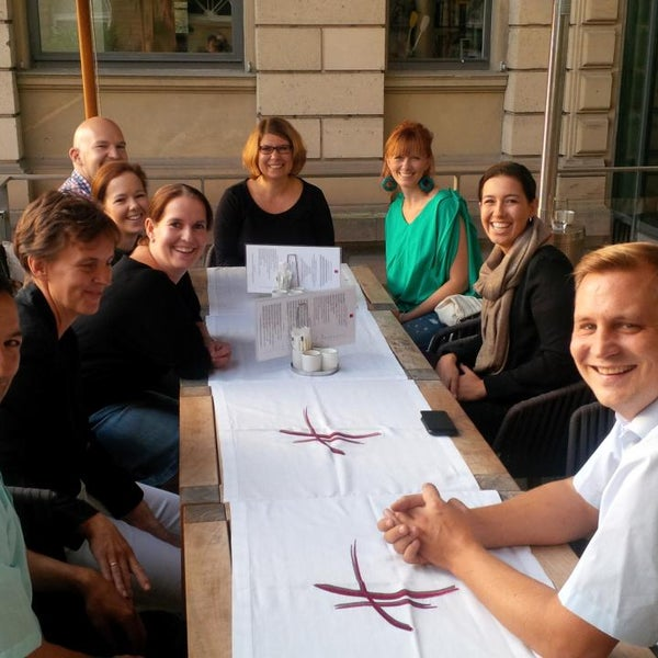 Photo taken at Holbein's Café-Restaurant by Christoph U. on 9/28/2014