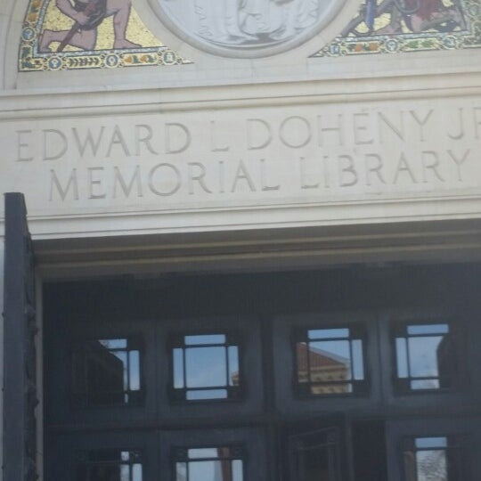 Photo taken at Doheny Memorial Library (DML) by TJ on 1/22/2015
