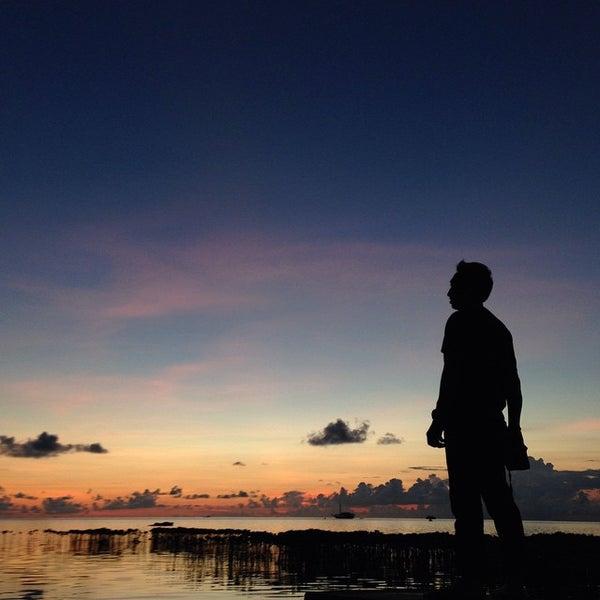 Photo taken at Pulau Pramuka by Josef W. on 3/29/2015