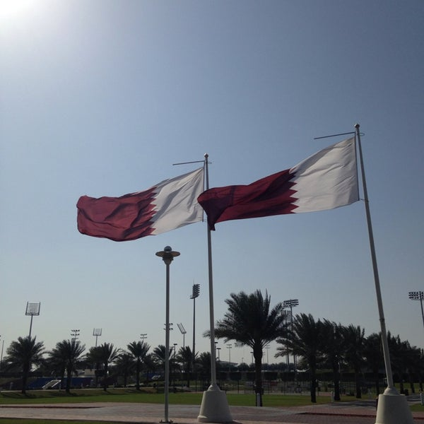 Photo taken at Aspire Park by Christian G. on 1/31/2014