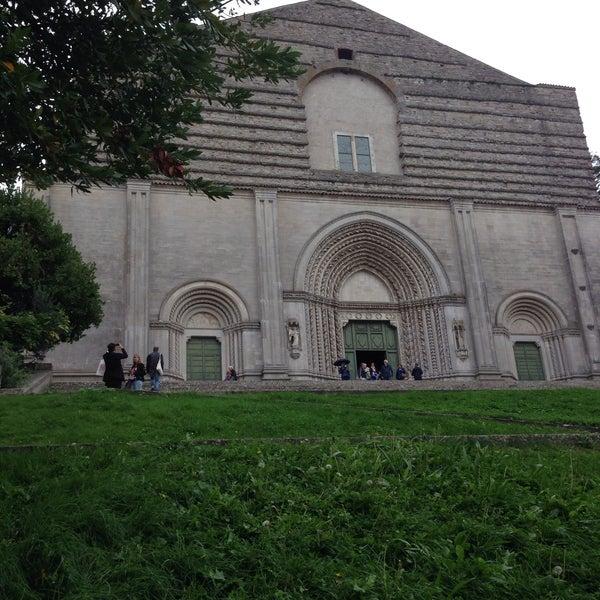 Photo taken at Basilica di San Fortunato by Elisa P. on 9/24/2015