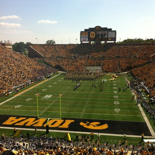 Photo taken at Kinnick Stadium by Shelley R. on 9/15/2012