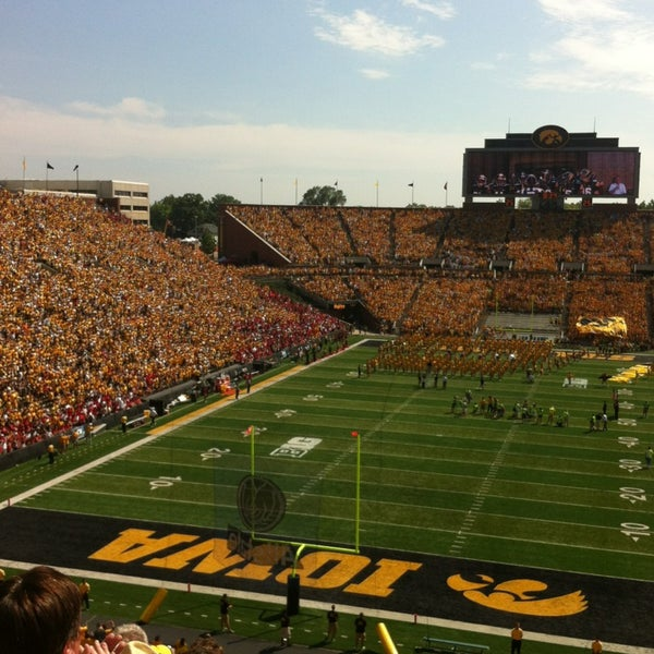 Photo taken at Kinnick Stadium by Shelley R. on 9/1/2013