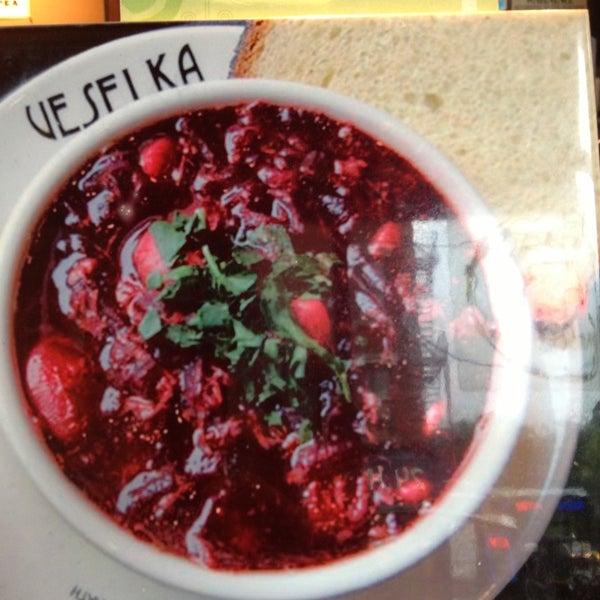 Photo taken at Veselka by Greg J. on 6/7/2013