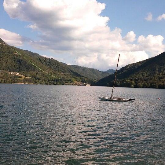 Photo taken at Lago di Suviana by Davide L. on 6/4/2014
