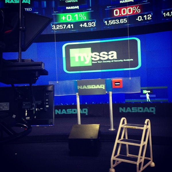 Photo taken at Nasdaq Marketsite by Adolfo D. on 3/27/2013