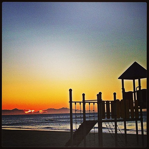 Photo taken at Platja de Calafell by Pere P. on 12/21/2012