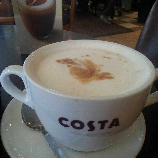 Photo taken at Costa Coffee by Ed D. on 3/18/2013