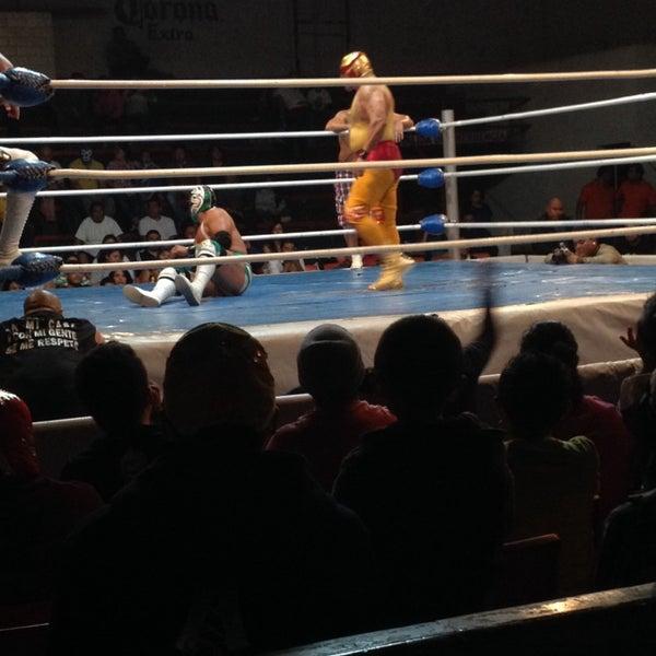 Photo taken at Arena Adolfo Lopez Mateos by fer M. on 10/6/2014