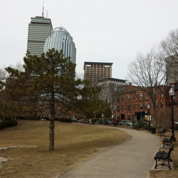 Photo taken at SW Corridor Park - Back Bay by Alexey S. on 3/23/2014