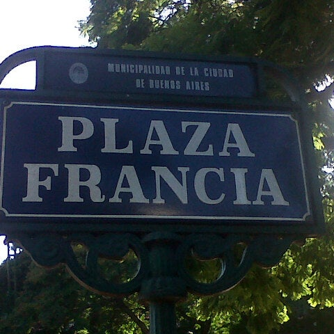 Photo taken at Plaza Francia by Juan Q. on 4/17/2013
