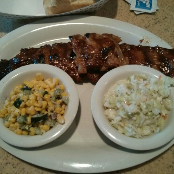 Today's special is a full rack of ribs.  A great deal. I also like the Cole slaw and roasted corn salad..