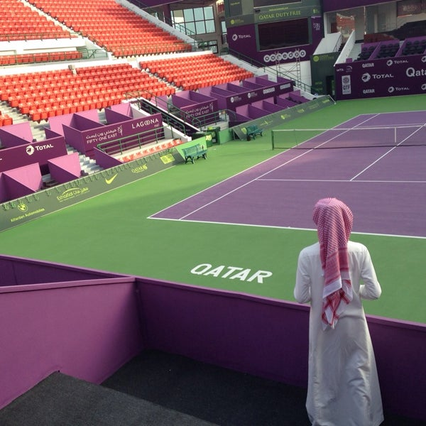 Photo taken at Qatar Tennis Federation by Ahmad A. on 2/6/2014