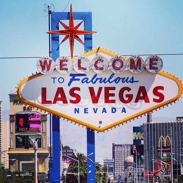 Photo taken at Welcome To Fabulous Las Vegas Sign by Miki's L. on 1/8/2013