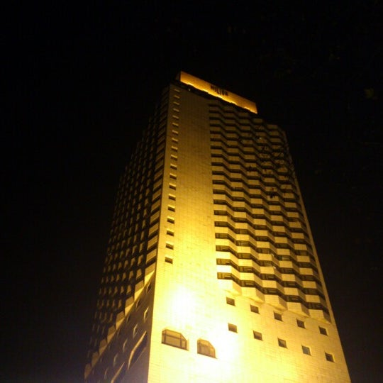 Photo taken at Hilton İzmir by Aykan T. on 1/5/2013