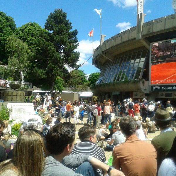 Photo taken at Stade Roland Garros by camille m. on 6/2/2013