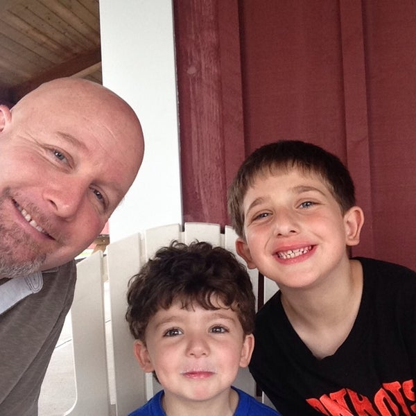 """Photo taken at Mann Orchards Farm Store & Bakery by Rick """"The Undaunted Dad"""" D. on 7/14/2014"""