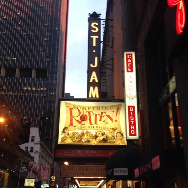 Photo taken at St. James Theatre by Tristan H. on 4/18/2015