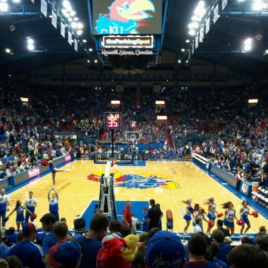 Photo taken at Allen Fieldhouse by Jeremy W. on 11/16/2012