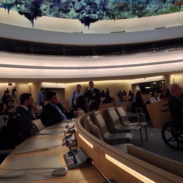 Photo taken at Palais des Nations by Roman T. on 2/14/2014