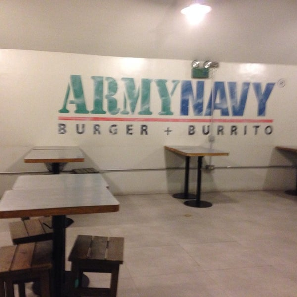 Photo taken at Army Navy Burger + Burrito by K Sha B. on 3/15/2014