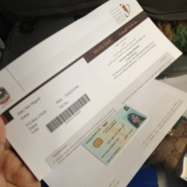 Photo taken at Emirates Post Office مكتب بريد الإمارات by Jinky T. on 3/28/2013