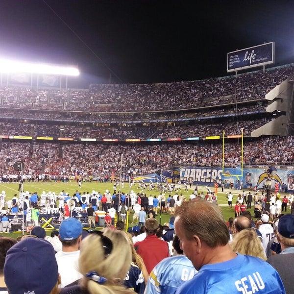 Photo taken at Qualcomm Stadium by Taki on 9/11/2013