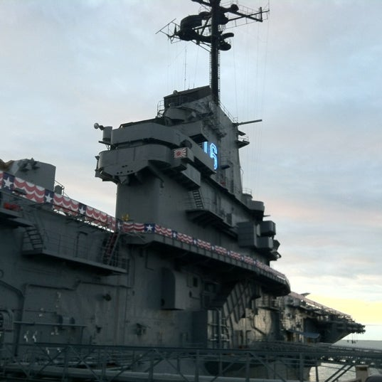 Photo taken at USS Lexington Museum On The Bay by Mike C. on 3/21/2012