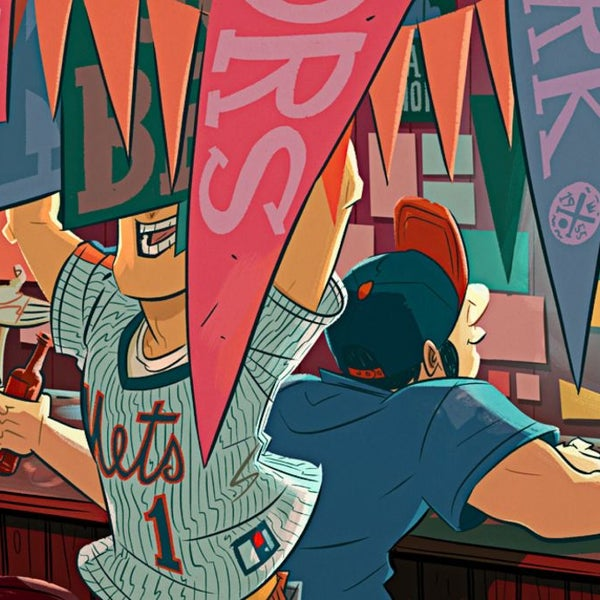 """This tiny, beloved East Village sports bar—eleven barstools, three tables, a pair of seats from Shea Stadium—has the dark-wood intimacy of a church vestibule, and it welcomes all affiliations."""