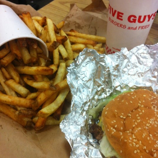 Photo taken at Five Guys by anastasyos on 10/7/2012